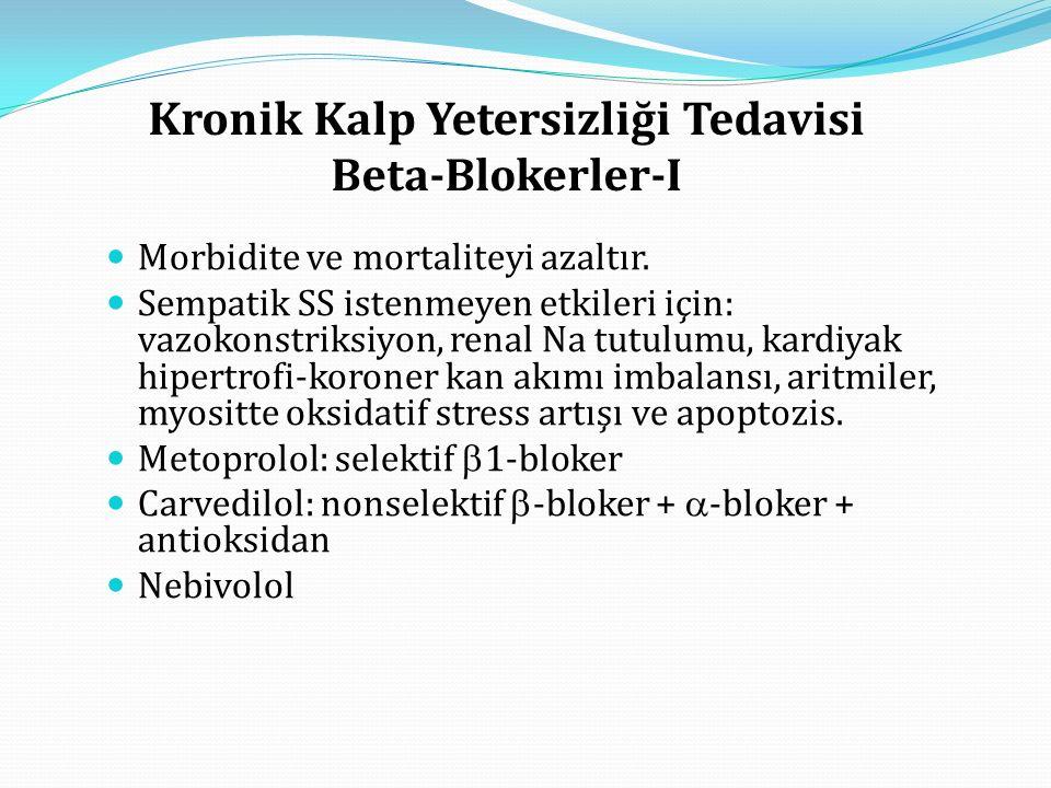 Kronik Kalp Yetersizliği Tedavisi Beta-Blokerler-I