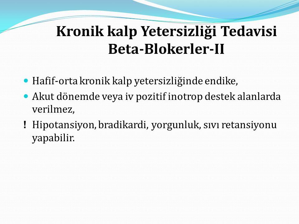 Kronik kalp Yetersizliği Tedavisi Beta-Blokerler-II