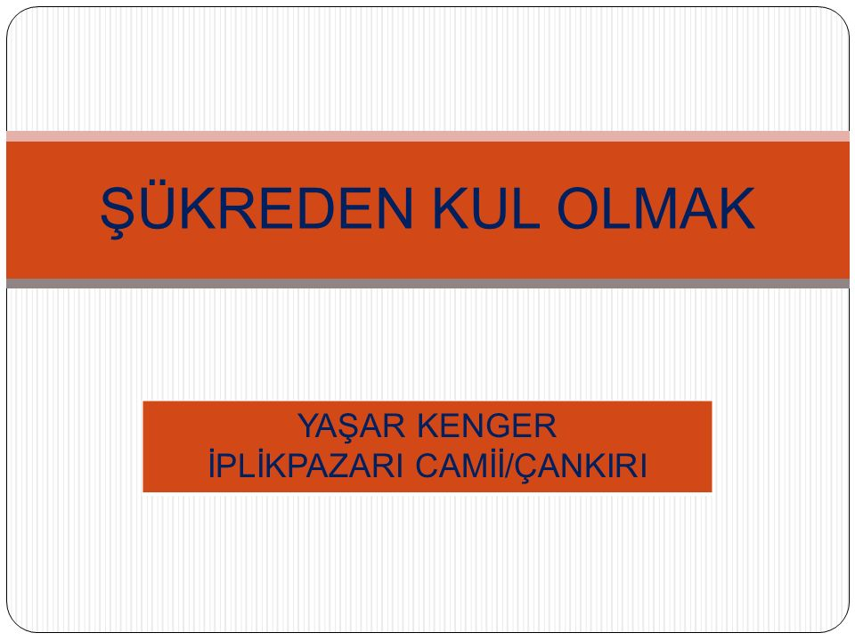 İPLİKPAZARI CAMİİ/ÇANKIRI