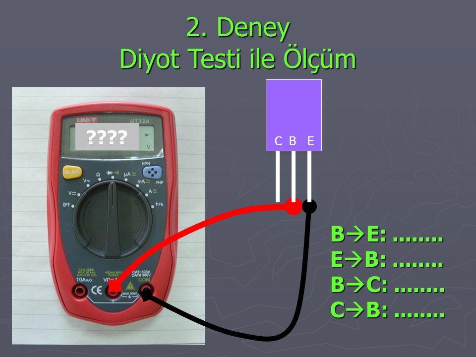 2. Deney Diyot Testi ile Ölçüm