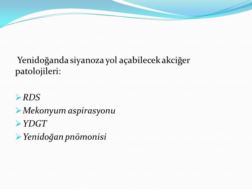 Yenidoğanda siyanoza yol açabilecek akciğer patolojileri: