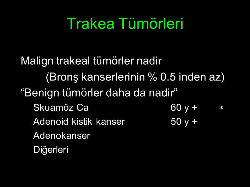 Trakea Tümörleri Malign trakeal tümörler nadir
