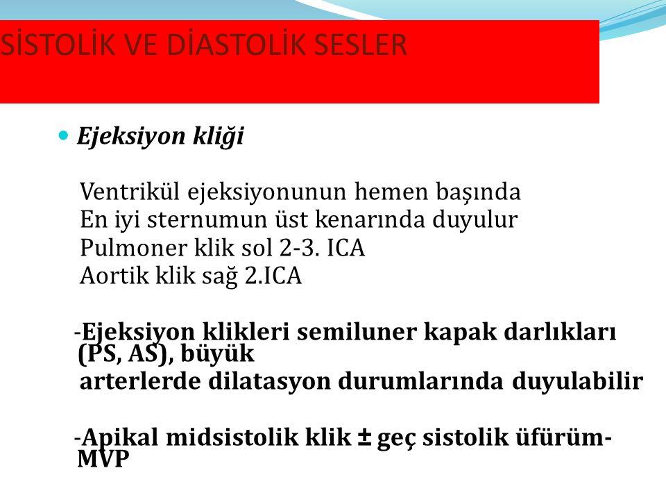 SİSTOLİK VE DİASTOLİK SESLER