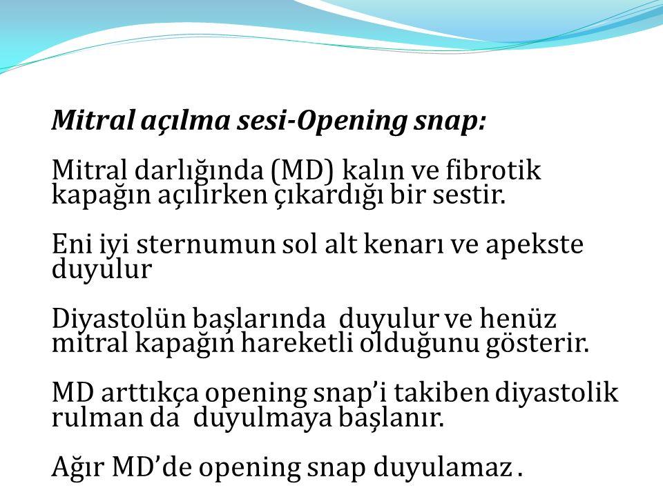 Mitral açılma sesi-Opening snap: