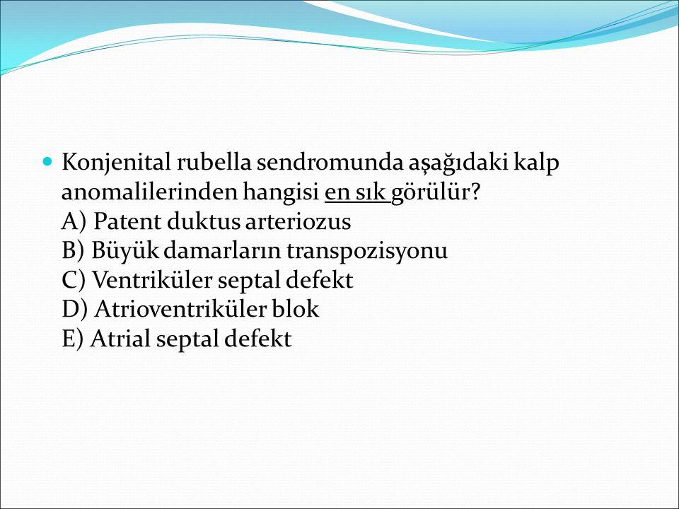 Konjenital rubella sendromunda aşağıdaki kalp anomalilerinden hangisi en sık görülür.