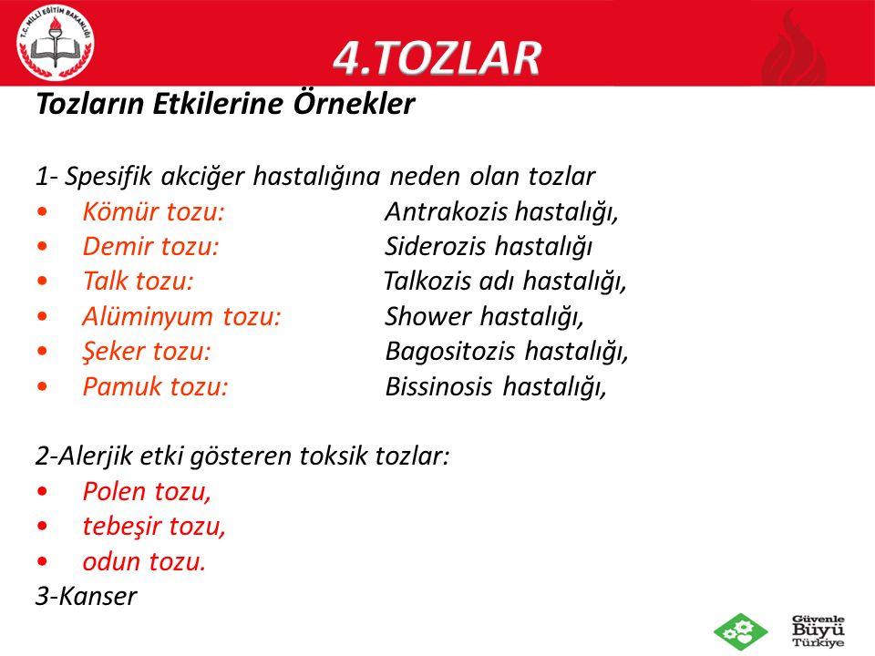 4.TOZLAR Tozların Etkilerine Örnekler