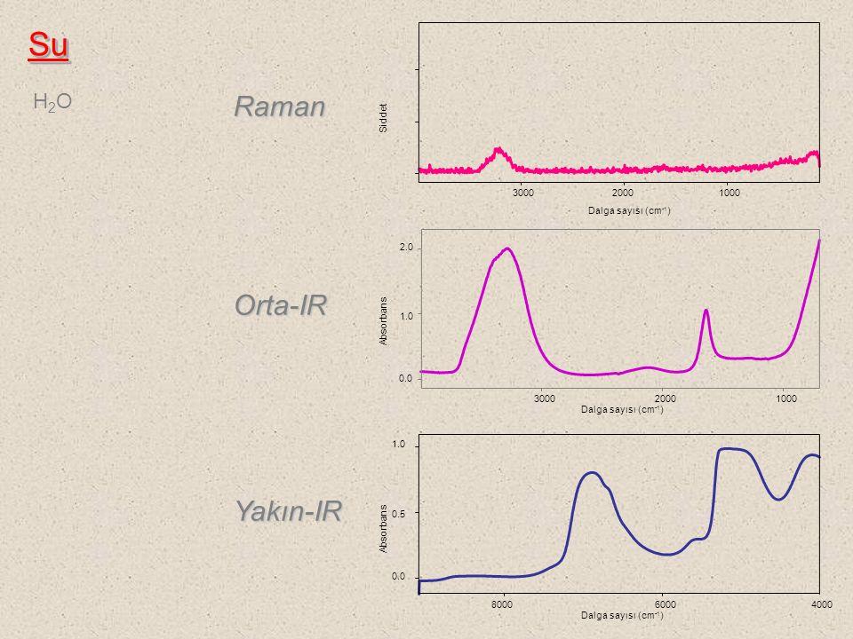 Su Raman Orta-IR Yakın-IR H2O Absorbans 0.0 0.5 1.0 2.0
