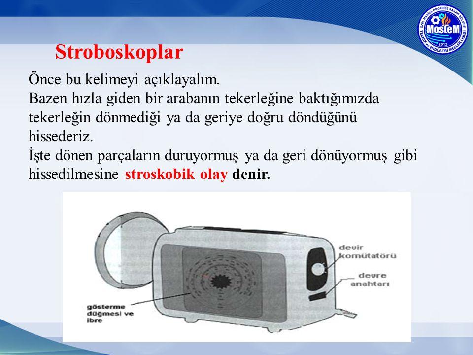 Stroboskoplar Önce bu kelimeyi açıklayalım.