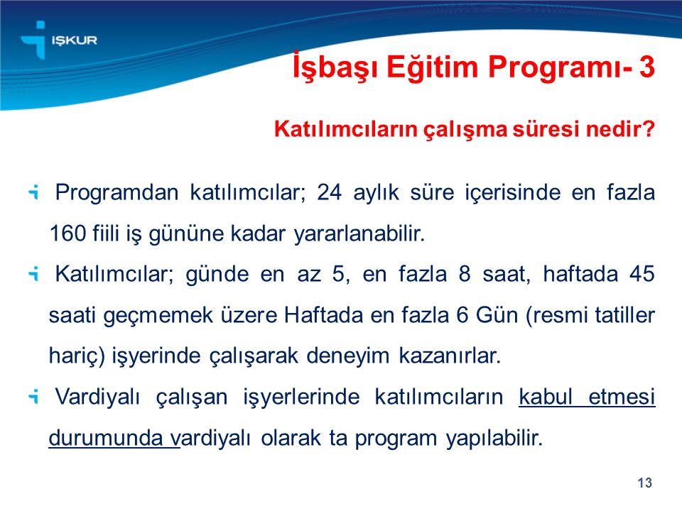 İşbaşı Eğitim Programı- 3