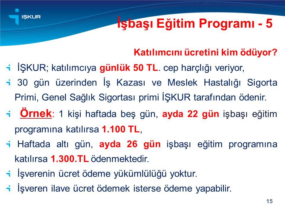 İşbaşı Eğitim Programı - 5