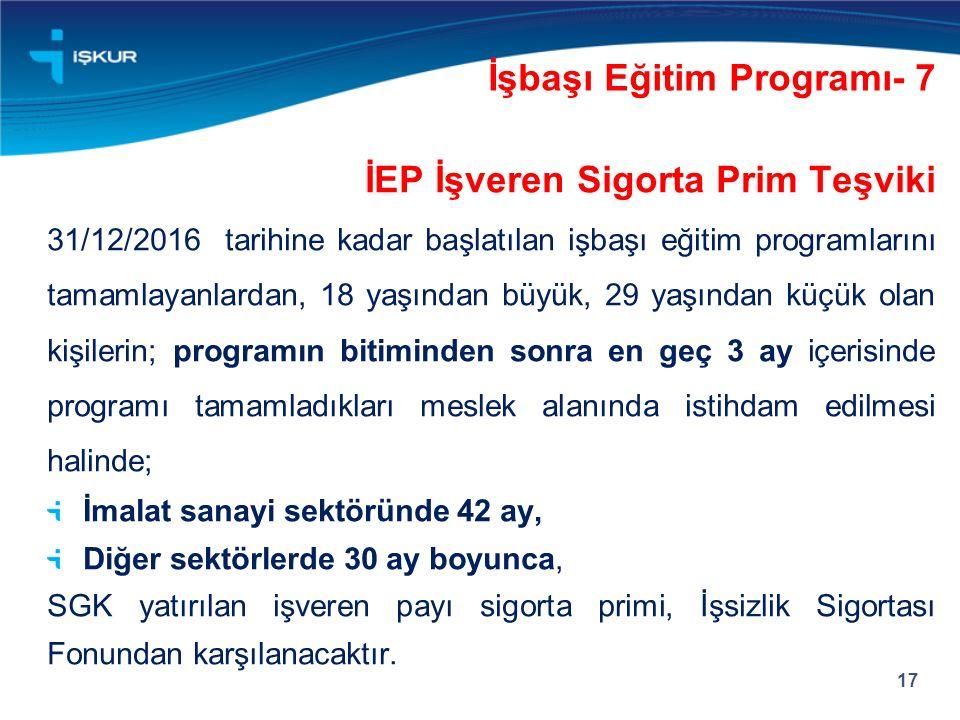 İşbaşı Eğitim Programı- 7