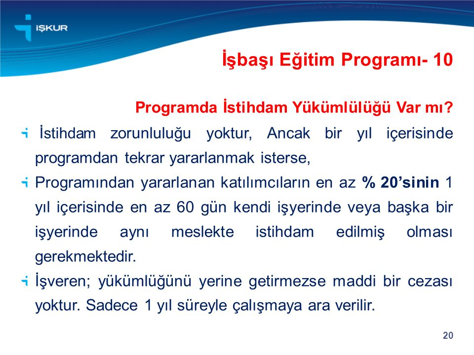 İşbaşı Eğitim Programı- 10