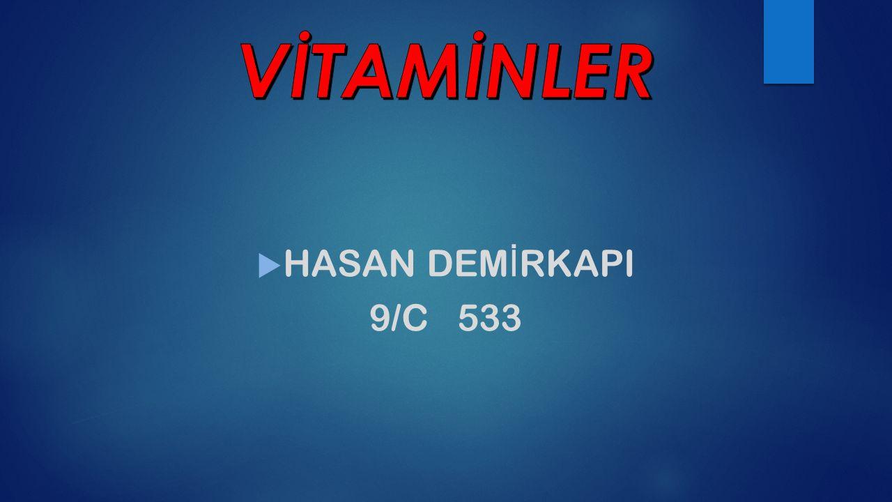 VİTAMİNLER HASAN DEMİRKAPI 9/C 533