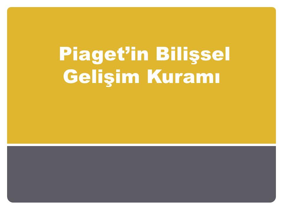 Piaget'in Bilişsel Gelişim Kuramı