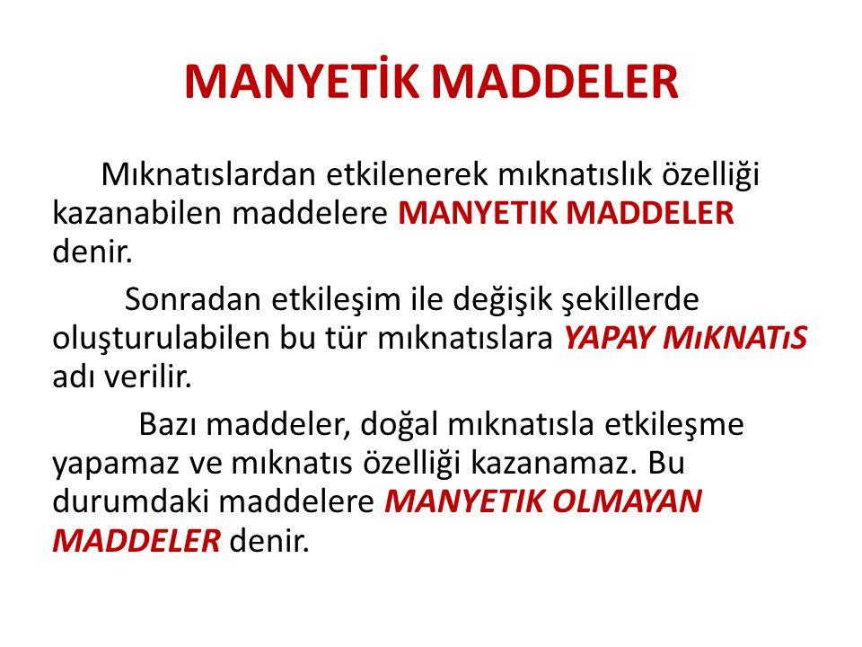 MANYETİK MADDELER