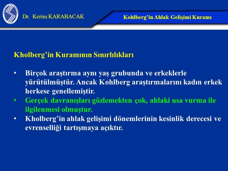 Kohlberg'in Ahlak Gelişimi Kuramı