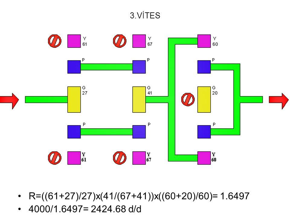 R=((61+27)/27)x(41/(67+41))x((60+20)/60)= 1.6497
