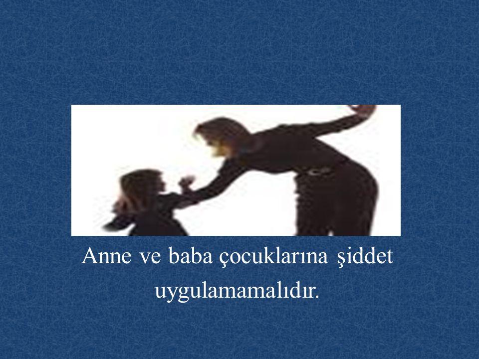 Anne ve baba çocuklarına şiddet