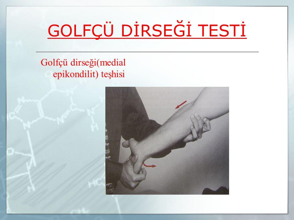 Golfçü dirseği(medial epikondilit) teşhisi