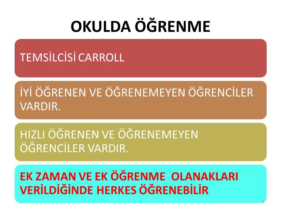 OKULDA ÖĞRENME TEMSİLCİSİ CARROLL