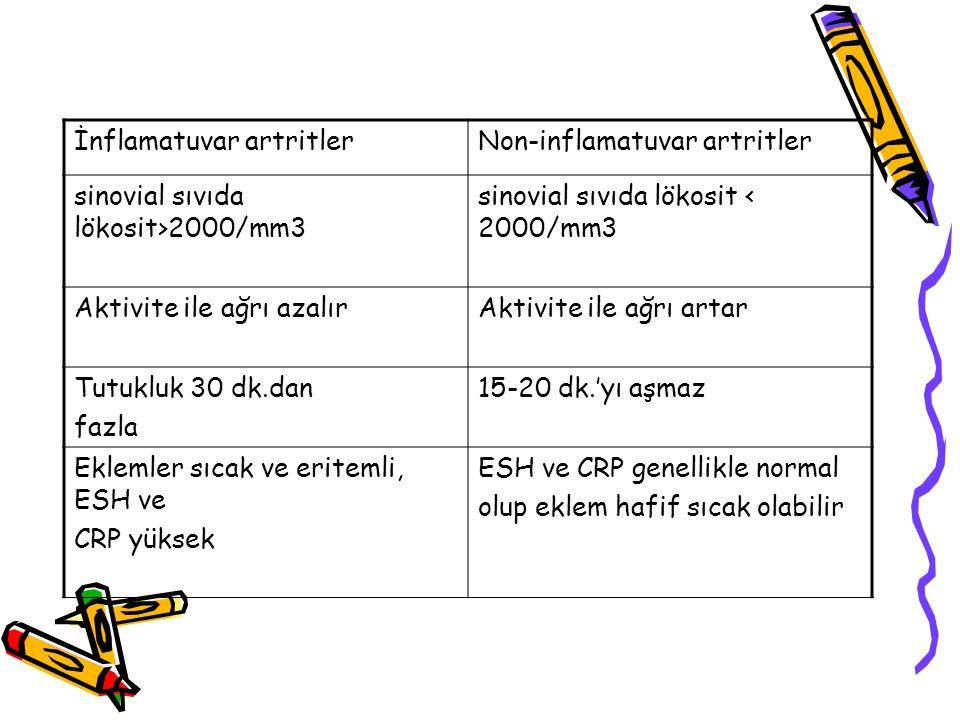 İnflamatuvar artritler