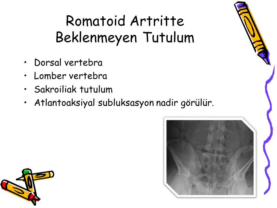 Romatoid Artritte Beklenmeyen Tutulum