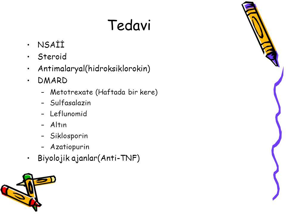 Tedavi NSAİİ Steroid Antimalaryal(hidroksiklorokin) DMARD