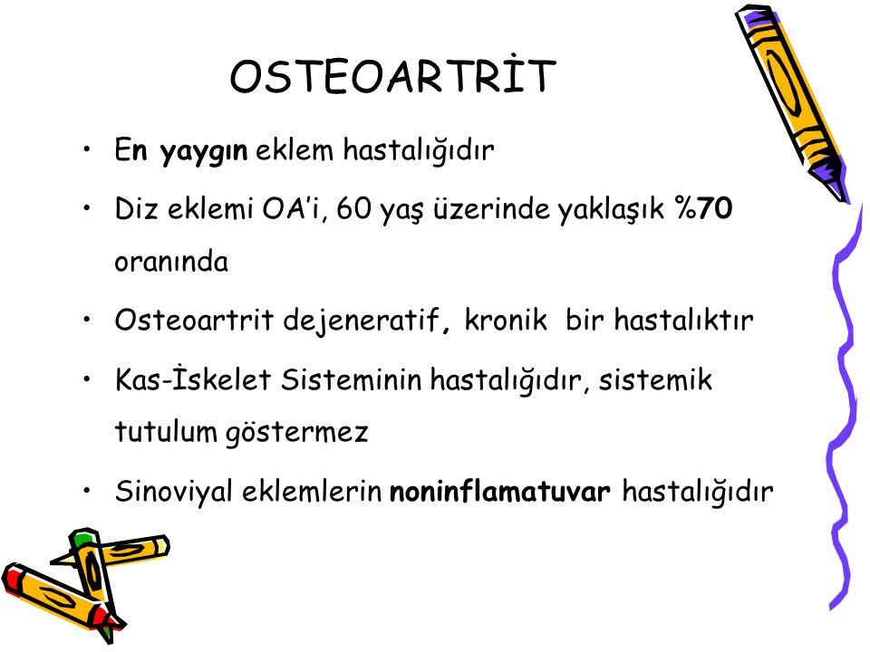 OSTEOARTRİT En yaygın eklem hastalığıdır