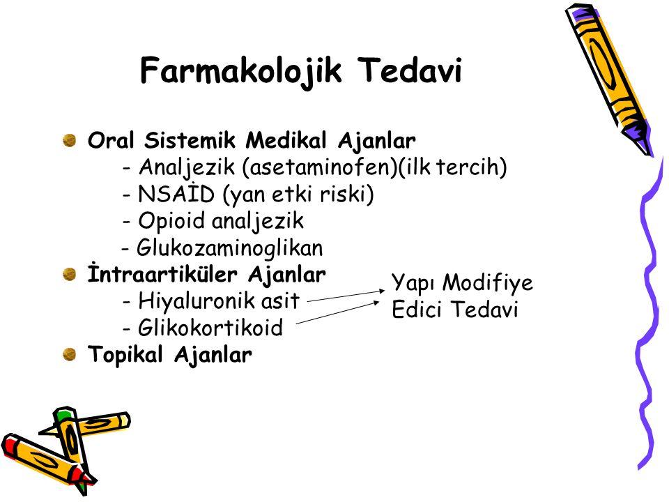 Farmakolojik Tedavi Oral Sistemik Medikal Ajanlar