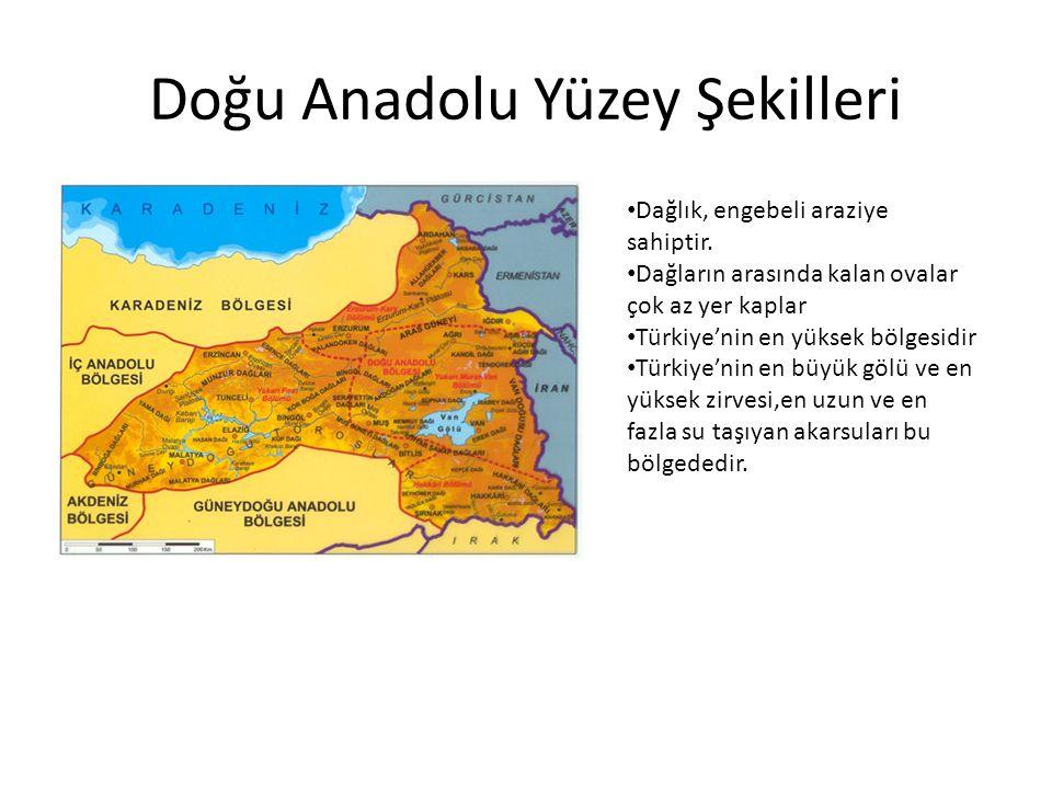 Doğu Anadolu Yüzey Şekilleri