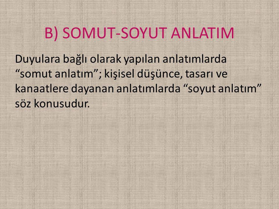 B) SOMUT-SOYUT ANLATIM