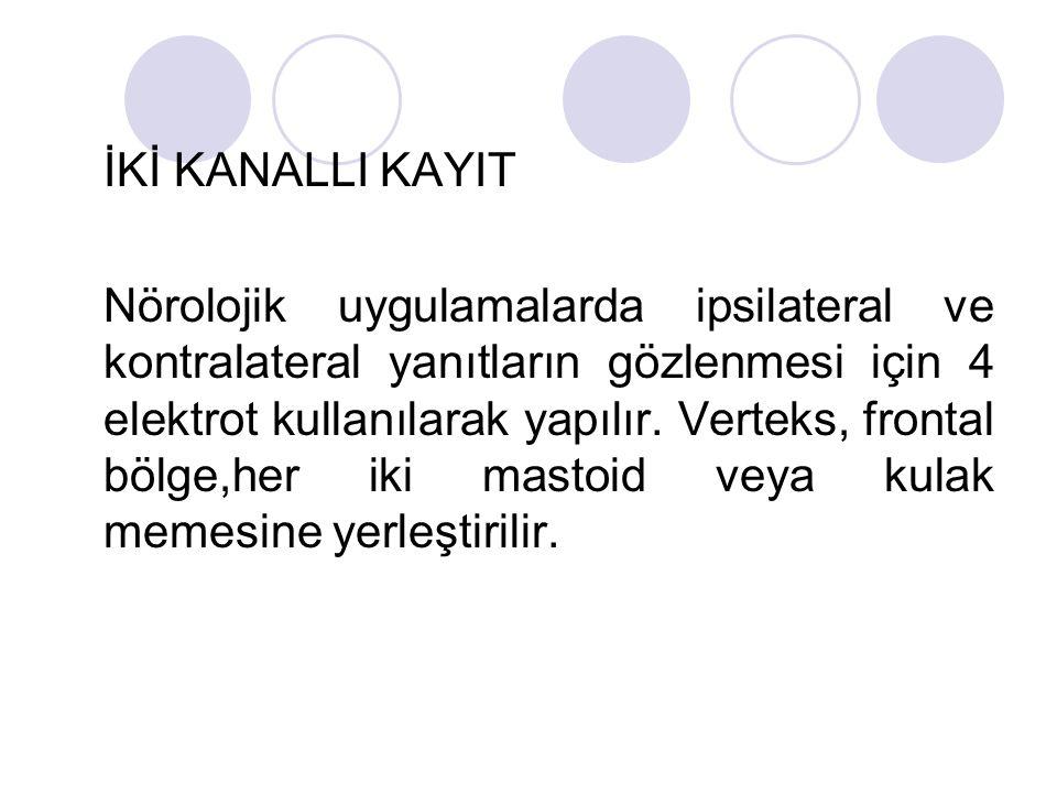 İKİ KANALLI KAYIT