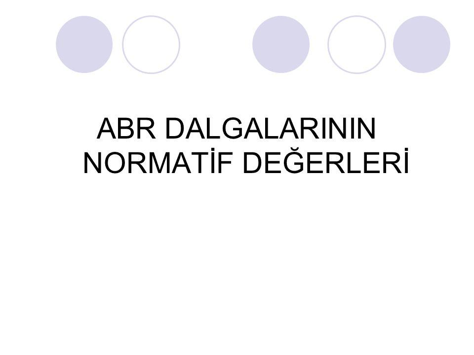 ABR DALGALARININ NORMATİF DEĞERLERİ