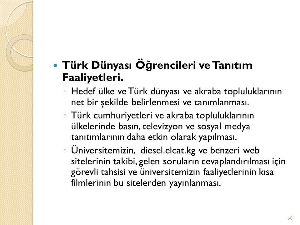 Türk Dünyası Öğrencileri ve Tanıtım Faaliyetleri.