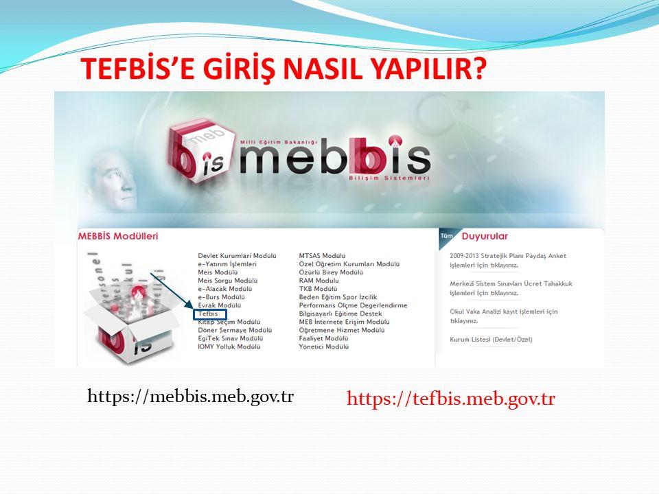 TEFBİS'E GİRİŞ NASIL YAPILIR