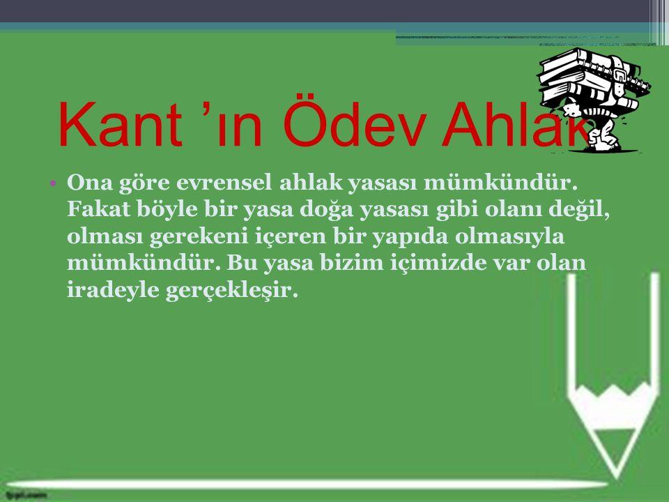 Kant 'ın Ödev Ahlakı