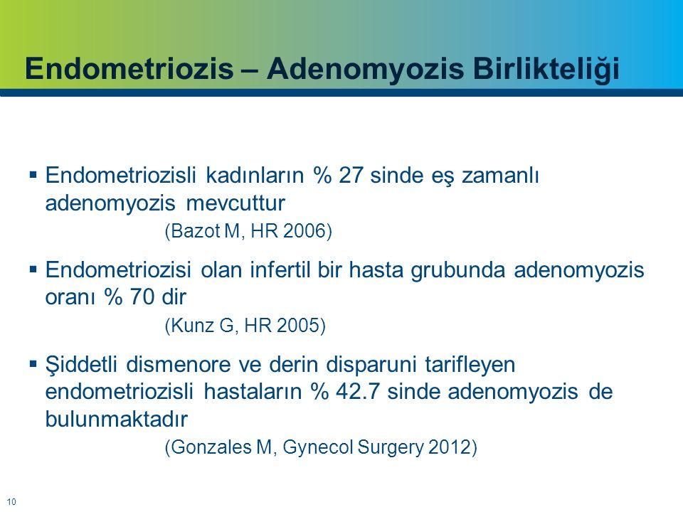 Endometriozis – Adenomyozis Birlikteliği