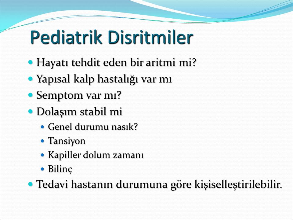 Pediatrik Disritmiler
