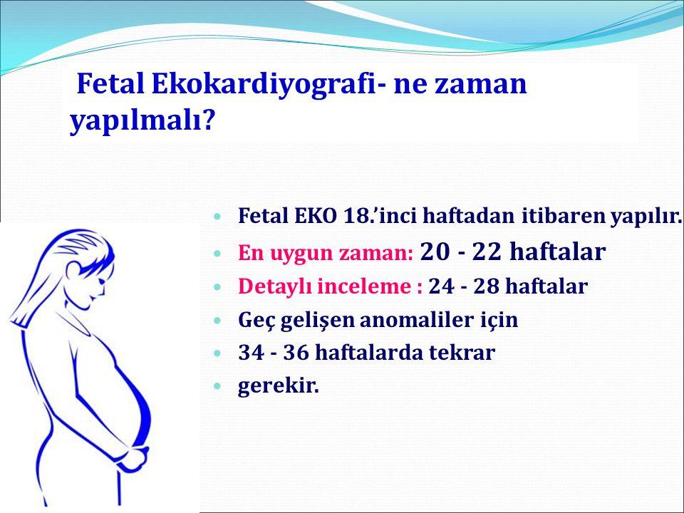 Fetal Ekokardiyografi- ne zaman yapılmalı