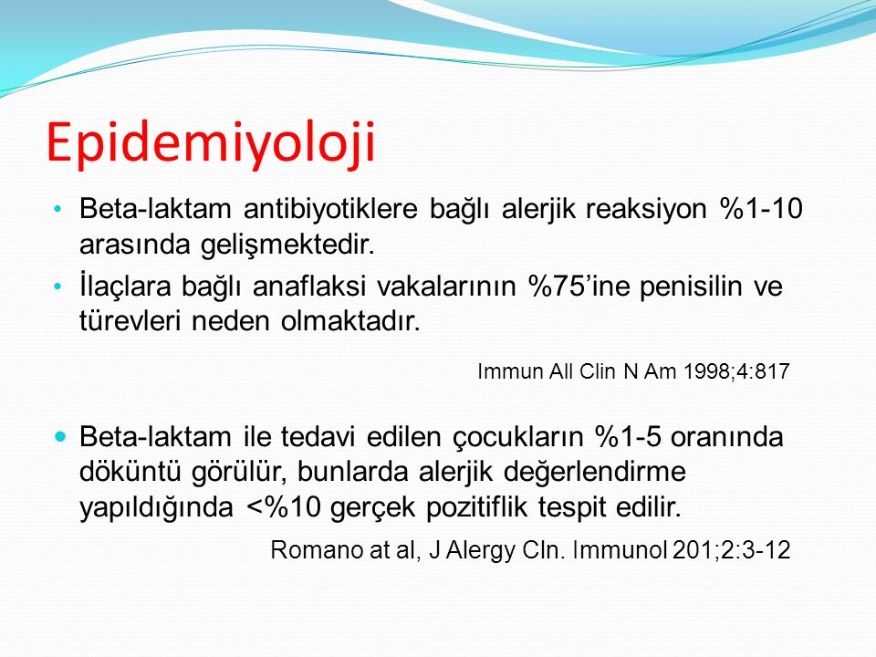 Epidemiyoloji Immun All Clin N Am 1998;4:817