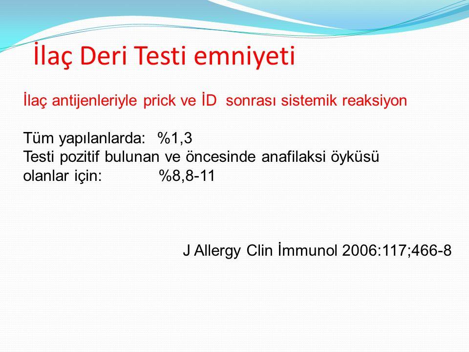 İlaç Deri Testi emniyeti