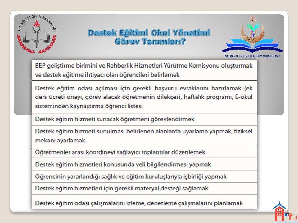 Destek Eğitimi Okul Yönetimi