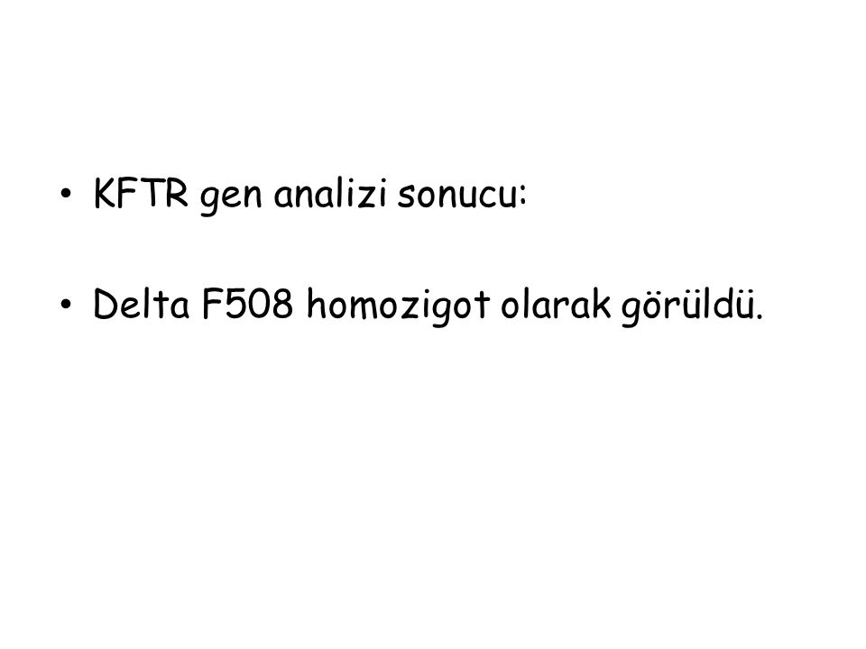 KFTR gen analizi sonucu: