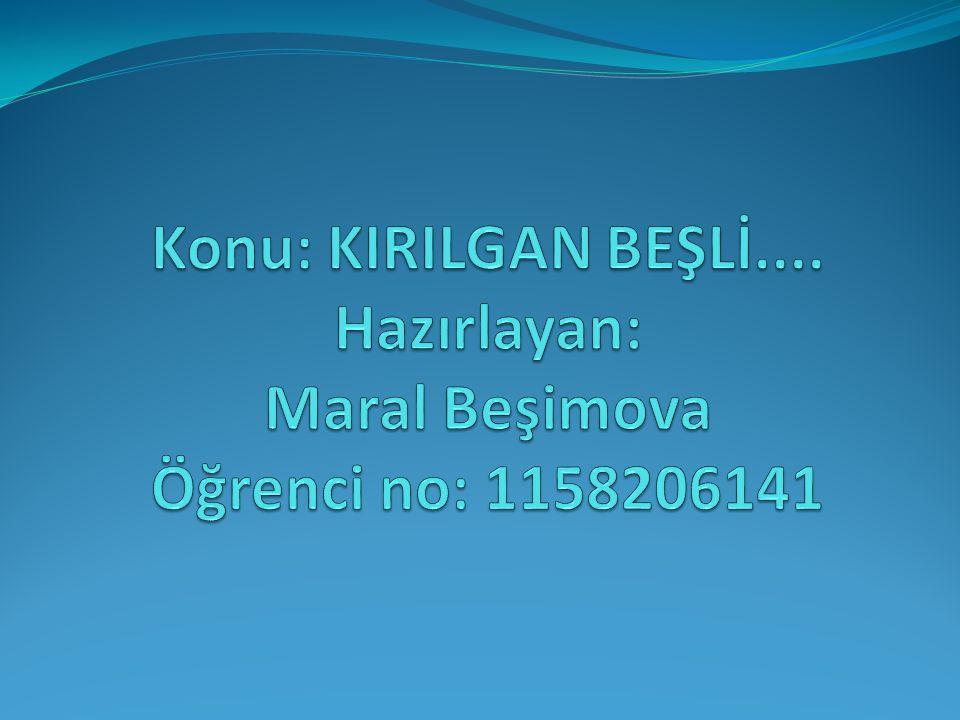 Konu: KIRILGAN BEŞLİ.... Hazırlayan: Maral Beşimova Öğrenci no: 1158206141