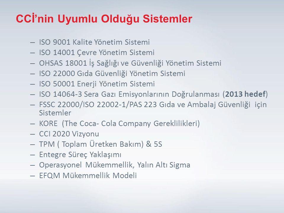 CCİ'nin Uyumlu Olduğu Sistemler