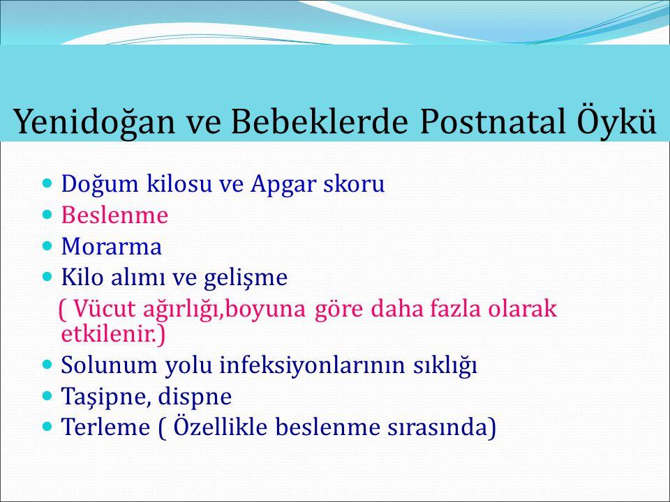 Yenidoğan ve Bebeklerde Postnatal Öykü