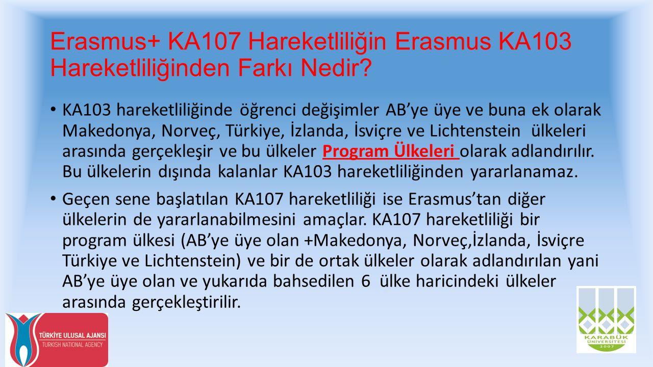 Erasmus+ KA107 Hareketliliğin Erasmus KA103 Hareketliliğinden Farkı Nedir