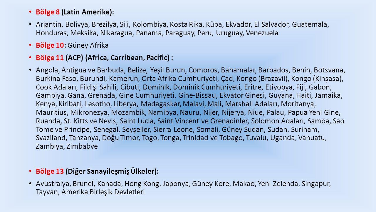 Bölge 8 (Latin Amerika):