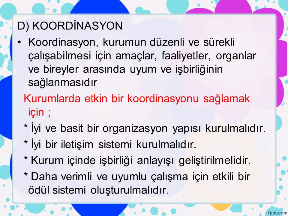 D) KOORDİNASYON
