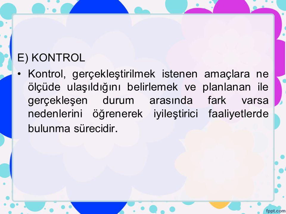 E) KONTROL
